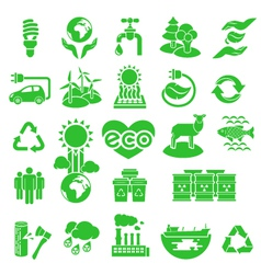 Eco Icons Silhouettes vector