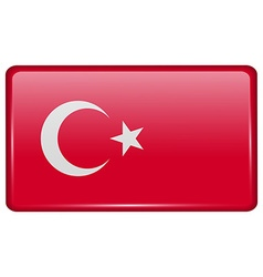 Flags Turkey in the form of a magnet on vector image