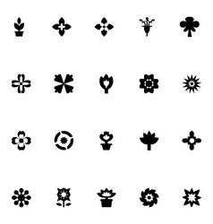 Flowers icons 4 vector
