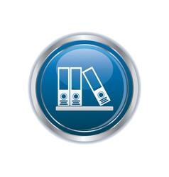 Folders on a shelf icon vector image