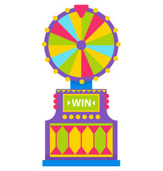 fortune wheel spin to win game machine spinning vector image