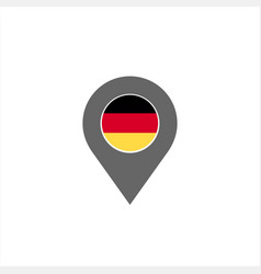 Germany map pin and flag logo and icon vector