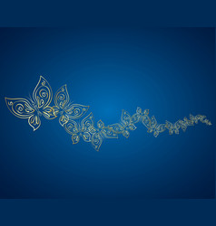 gold butterflies are flying vector image