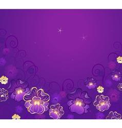 golden flowers vector image