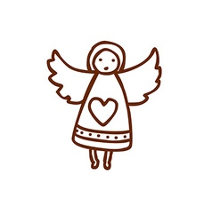 Hand Drawn Angel vector