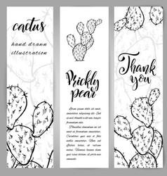 Hand drawn opuntia ficus-indica vector