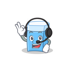 Headphone eraser character mascot style vector