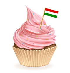 Hungarian Cupcake vector image