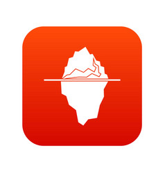 iceberg icon digital red vector image