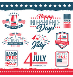 Independence day united states poster set vector