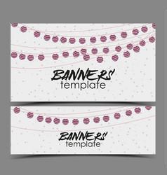 Invitation card party celebration vector