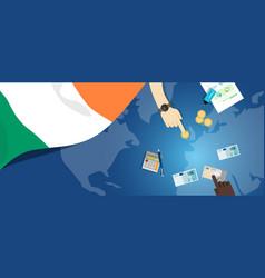 Ireland economy fiscal money trade concept vector
