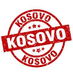 Kosovo red round grunge stamp vector
