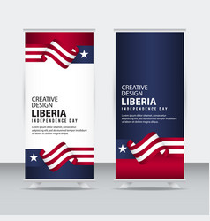 Liberia independent day poster creative design vector