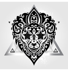 Lions head Tribal pattern vector image vector image