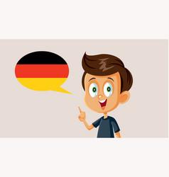 Little boy speaking german vector