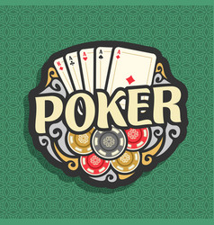 Logo poker vector