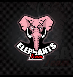 Logo template with elephant head vector