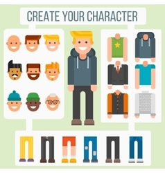 Make your flat character elements creator man in vector