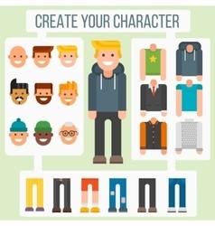 Make your flat character elements creator man vector