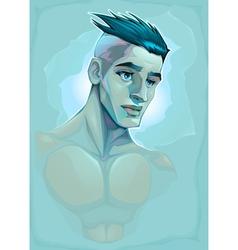 Male portrait vector