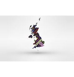 Map of Great Britain - England Wales Scotland and vector image