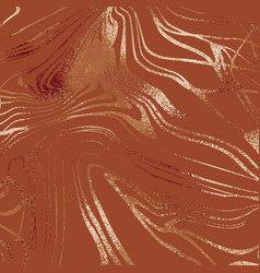 Marble with copper glossy effect elegant texture vector
