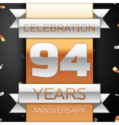 Ninety four years anniversary celebration golden vector