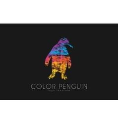 penguin logo color design creative logo vector image