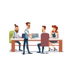 People work in office vector