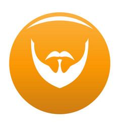 Person beard icon orange vector