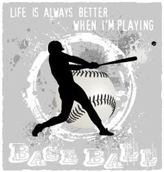 playing baseball vector image vector image