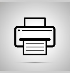 printer symbol with sheet of paper with text vector image