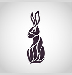 rabbit logo icon design vector image