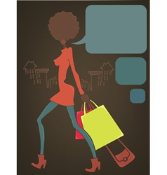 retro shopping vector image