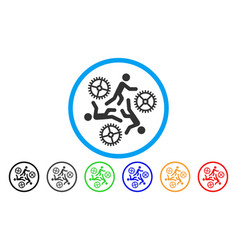 running persons for gears flat icon vector image