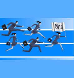 Running to year 2018 business concept vector