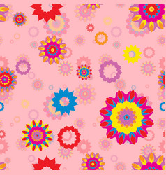 seamless repeating floral pattern vector image
