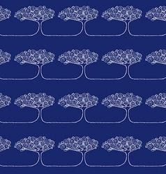 Sketch African tree vector image