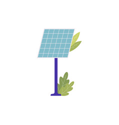 solar battery or sun energy cell panel symbol vector image