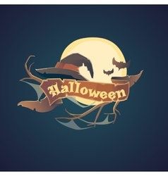 Sticker and poster Happy Halloween vector