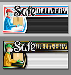templates for safe delivery vector image