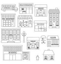town digital stamps vector image