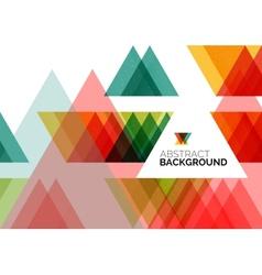 Triangle geometric concept vector image