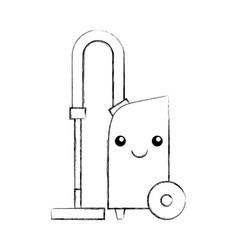 Vacuum cleaner kawaii character vector
