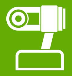 Webcam icon green vector
