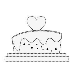 wedding big cake vector image