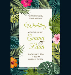 Wedding event invitation card template vector