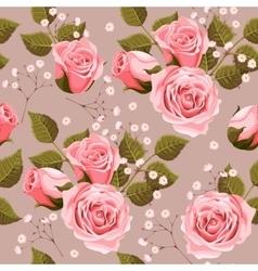 Wedding flowers seamless vector