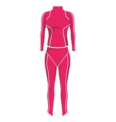 Women fitness suit vector